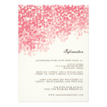 Rosey Light Shower Wedding Information Insert Card