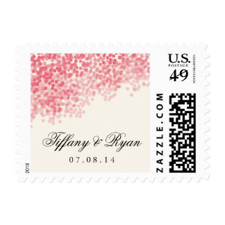 Rosey Light Shower Wedding Postage Stamp