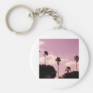 rosey Palms Basic Round Button Keychain