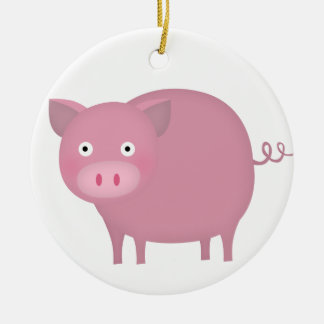 Rosey pig christmas tree ornaments