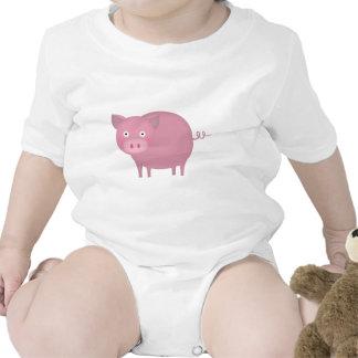 Rosey pig baby bodysuit