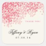 Rosey Pink Light Shower Favor Stickers