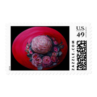 ROSEY RED HAT POSTAGE STAMP