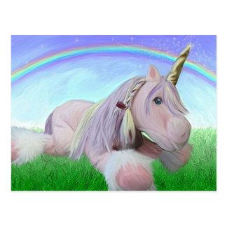 Rosey the unicorn post card