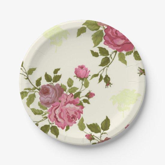 ROSEYVINTAGE Paper Plates BEALEADER