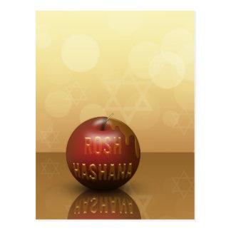 Rosh Hashana Apple con la miel - postal