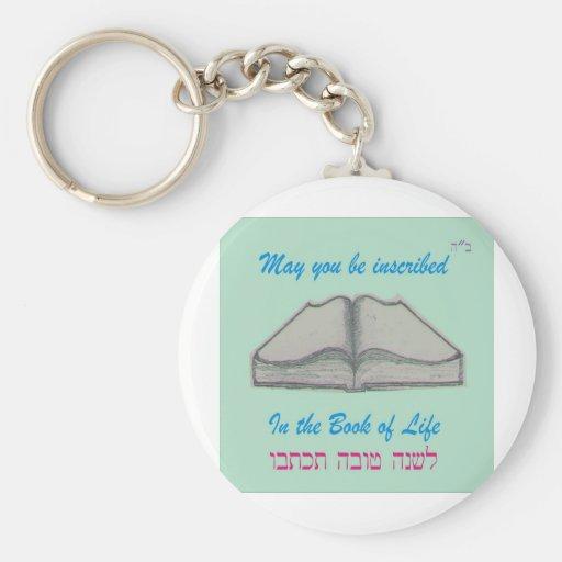 """Rosh Hashana """"libro de la vida """" Llavero Personalizado"""