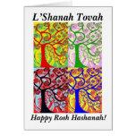 Rosh Hashanah - árbol de Judaica Hamsa de la Felicitaciones