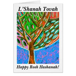 Rosh Hashanah - Blue Sky Tree Of Life Card