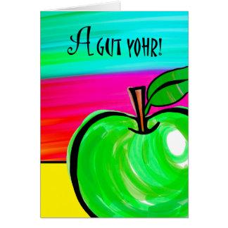 Rosh Hashanah Card in Yiddish, A Gut Yohr!