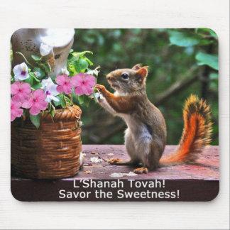 Rosh Hashanah carda los regalos Tapete De Ratones