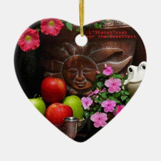 Rosh Hashanah Cards Gifts Ceramic Ornament