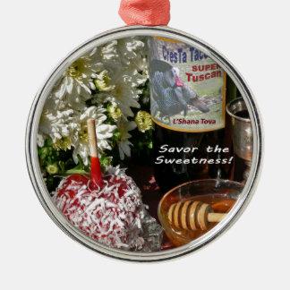Rosh Hashanah Cards Gifts Metal Ornament