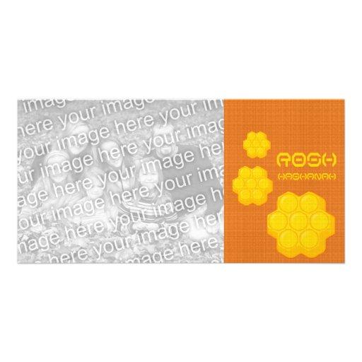 rosh hashanah honeycombs custom photo card