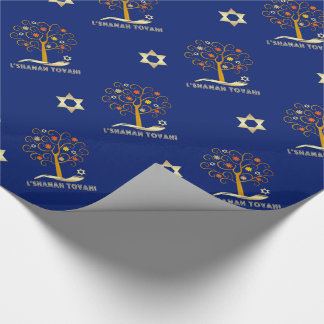 Rosh Hashanah, Jewish New Year Gift Wrapping Paper