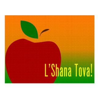 rosh hashanah l'shana tova apple postcard