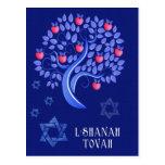 Rosh Hashanah. Postal judía del Año Nuevo