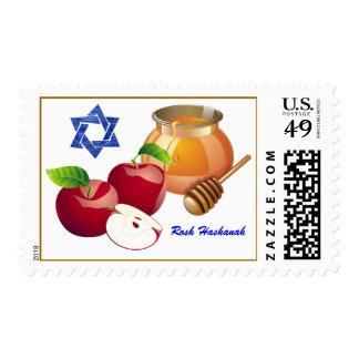 Rosh Hashanah Sello judío del Año Nuevo