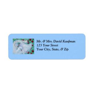 Rosh Hashanah Shana Tova Dove with Apples Label