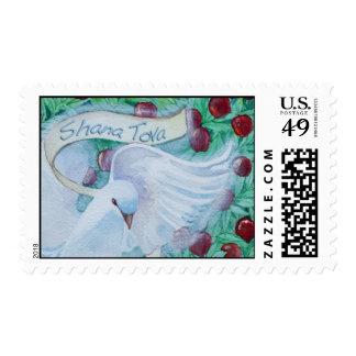 Rosh Hashanah Shana Tova Dove with Apples Stamps