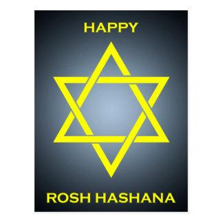 rosh hashanah (star of david) postcard
