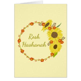 Rosh Hashanah Sunflower Card