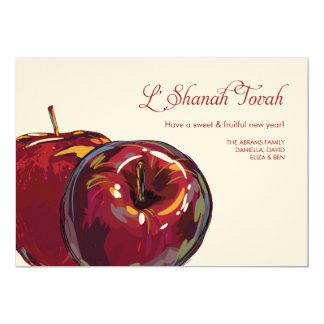 Rosh Hashanah Sweet Apples Flat Card Custom Invitation