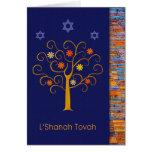 Rosh Hashanah. Tarjeta de felicitación judía del A