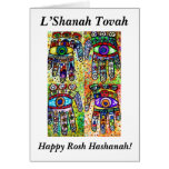 Rosh Hashanah - tarjeta de Judaica Hamsas del