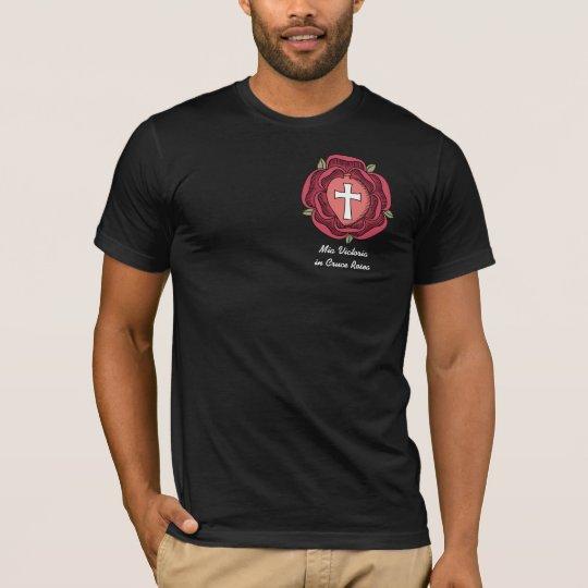 Rosicrucian Emblem, Mia Victoria in Cruce Rosea T-Shirt