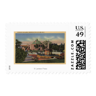 Rosicrucian Park, Fountain and Garden View Postage