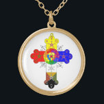 "Rosicrucian Rose Cross Lamen Necklace<br><div class=""desc"">Rosicrucian Rose Cross Lamen Necklace</div>"