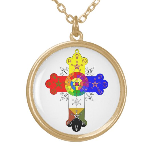 Rosicrucian rose cross lamen necklace zazzle rosicrucian rose cross lamen necklace mozeypictures Image collections