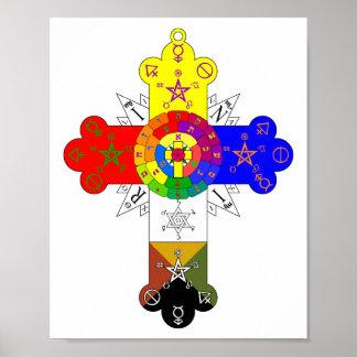 Rosicrucian Rose Cross Lamen Poster