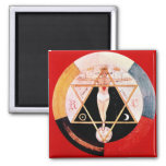 Rosicrucian symbol of the Hermetic Order 2 Inch Square Magnet