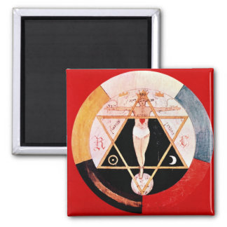 Rosicrucian symbol of the Hermetic Order Refrigerator Magnets