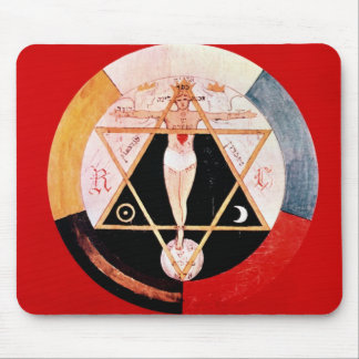 Rosicrucian symbol of the Hermetic Order Mousepads