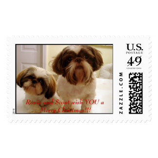 Rosie and Scout[1], Rosie and Scout wish YOU a ... Postage