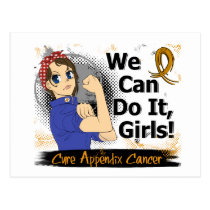 Rosie Anime WCDI Appendix Cancer Postcard