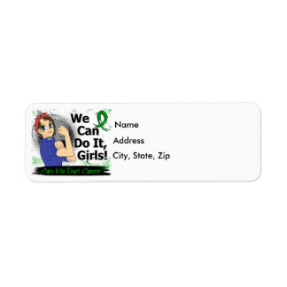 Rosie Anime WCDI Bile Duct Cancer Return Address Labels