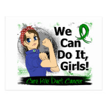 Rosie Anime WCDI Bile Duct Cancer Postcard