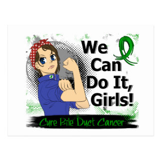 Rosie Anime WCDI Bile Duct Cancer Postcard