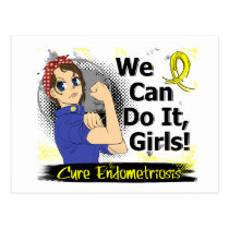 Rosie Anime WCDI Endometriosis Postcard