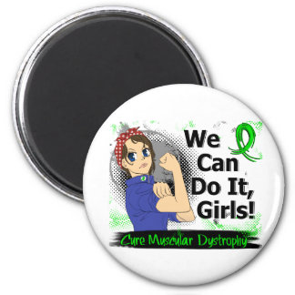 Rosie Anime WCDI Muscular Dystrophy 2 Inch Round Magnet