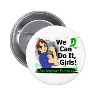 Rosie Anime WCDI Muscular Dystrophy Pinback Button