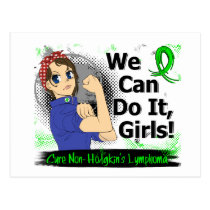 Rosie Anime WCDI Non-Hodgkin's Lymphoma Postcard