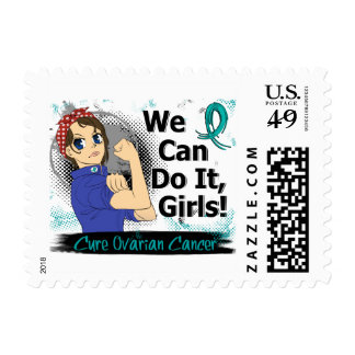 Rosie Anime WCDI Ovarian Cancer Postage Stamp