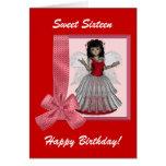 Rosie Cheeks Angel Birthday Card Greeting Card