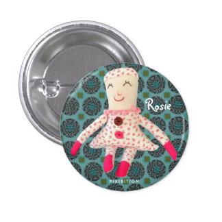 Rosie Doll Vintage Round Button