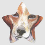 Rosie el beagle pegatina en forma de estrella